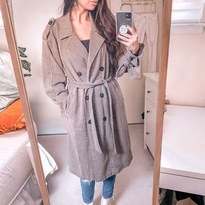 Earth-Toned Trench Coat